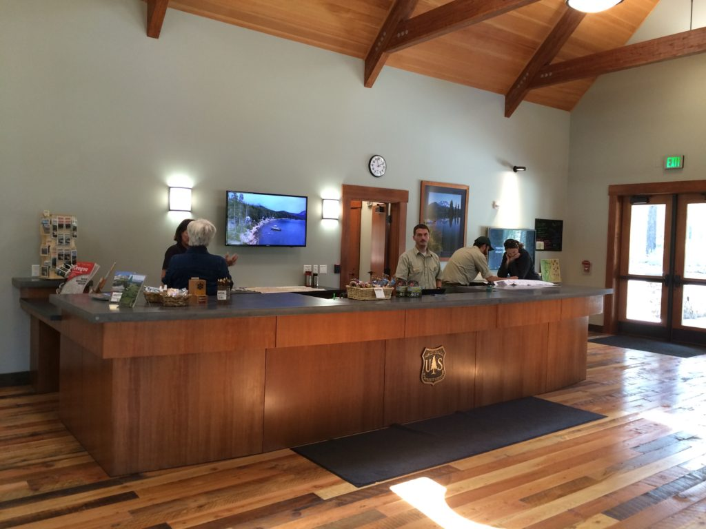 Ranger Tim Schenk at the Cascade Lakes Welcome Station.