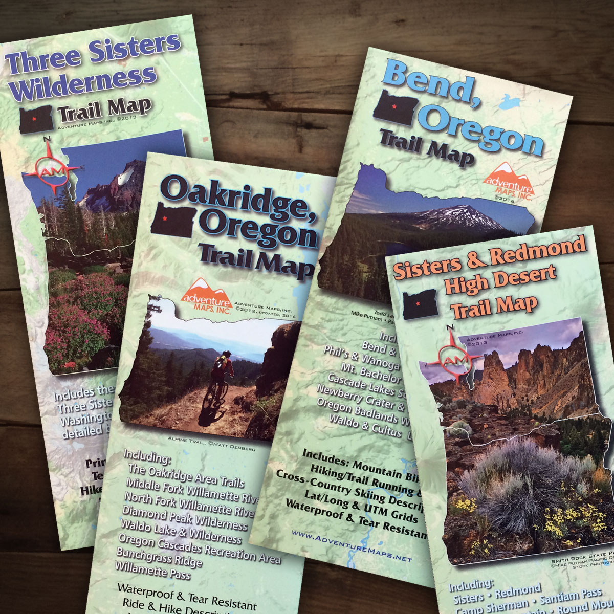 Central Oregon Adventure Maps Bundle