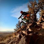Mountain Biking on the Crooked Arm Trail in Bend, Oregon
