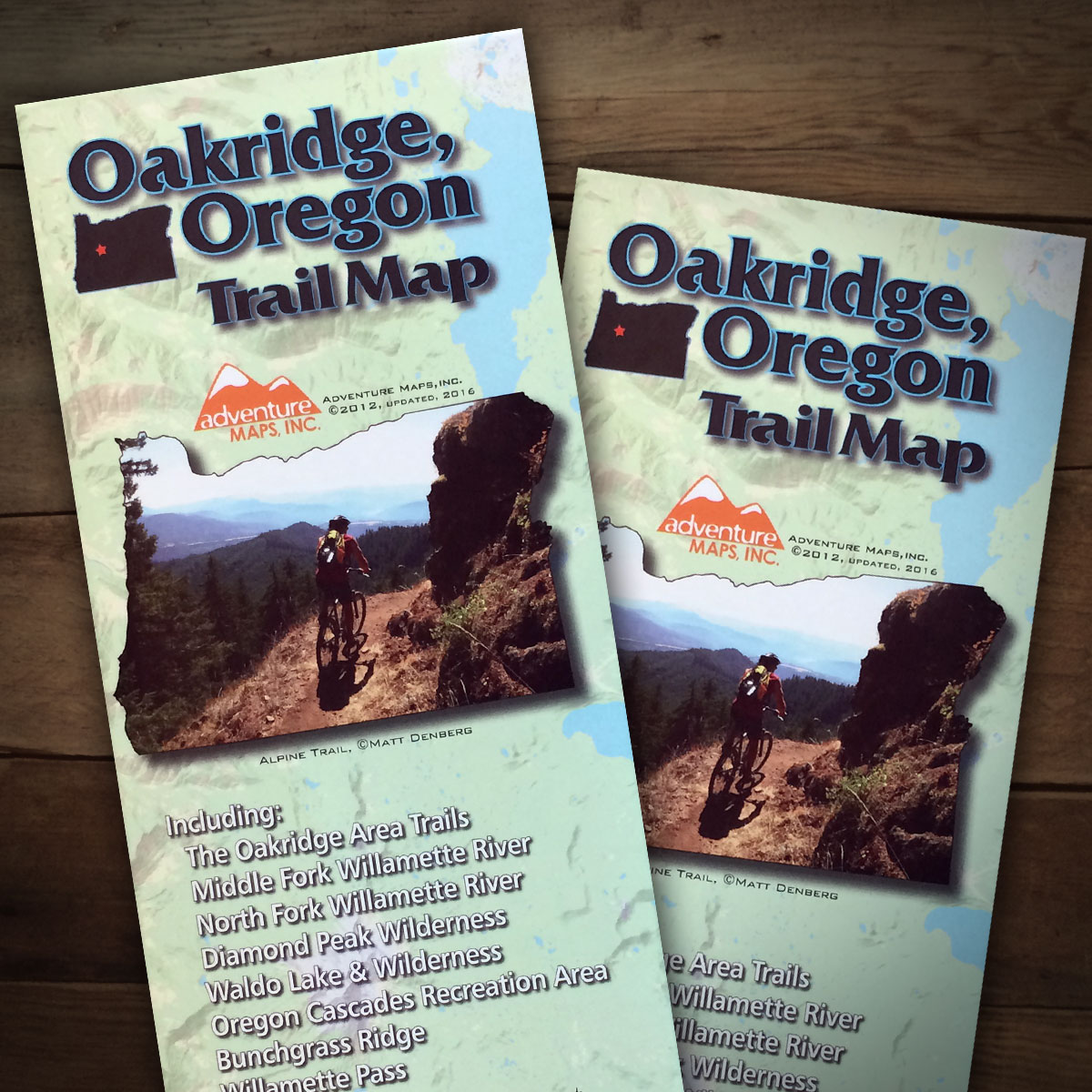 Oakridge Oregon Trail Map