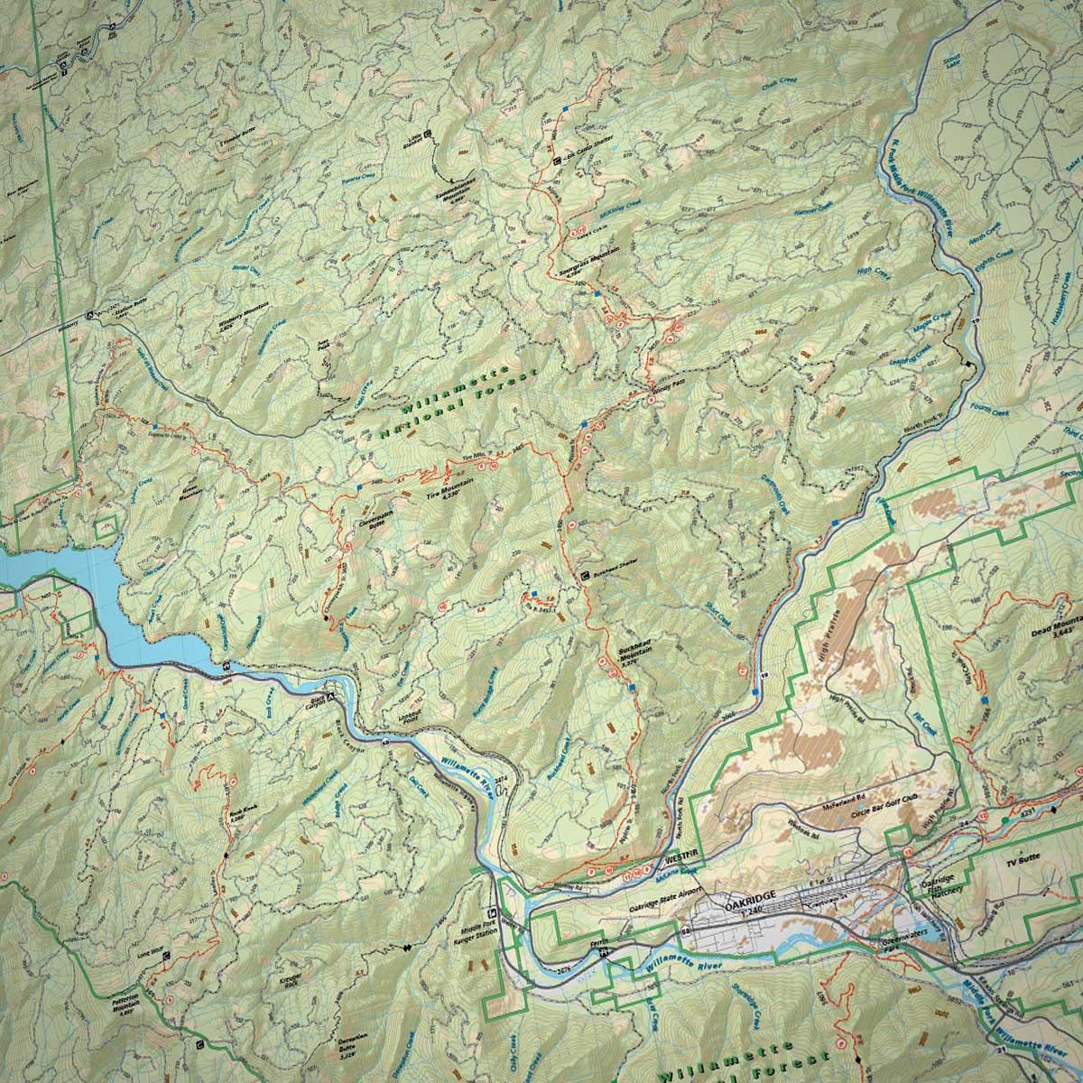 Map Of Oakridge Oregon Oakridge Trails Adventure Map » Bend Trails Gear