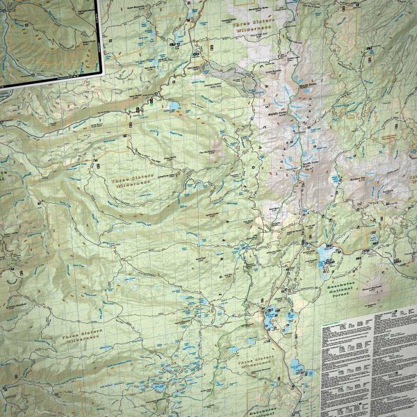 Three Sisters Wilderness Map