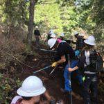 Westfir Tie Trail Work